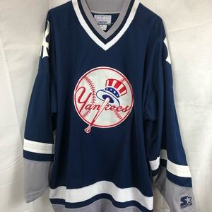 on sale 51b01 49e5a Vtg 90s Starter New York NY Yankees Jersey Hockey